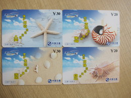 Satcom Prepaid Phonecard,shell,set Of 4 ,used - Chine