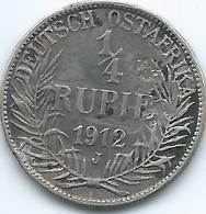 German East Africa - 1912 J - Wilhelm II -¼ Rupie - KM8 - Afrique De L'Allemagne De L'Est