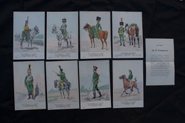 Ref5872 Lot De 8 CPA Militaria - Uniformes Du 1er Empire - Le 5e Chasseurs à Cheval - 16e Série - Uniformes