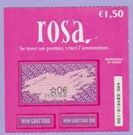MONOPOLI DI STATO GRATTA E VINCI ROSA USATO - Lottery Tickets