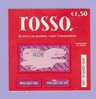 MONOPOLI DI STATO GRATTA E VINCI ROSSO  USATO - Lottery Tickets