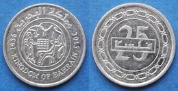 BAHRAIN - 25 Fils AH1436 2015AD KM# 24.2 Hamed Bin Isa (1999) - Edelweiss Coins - Bahreïn
