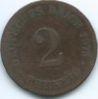 Germany - Wilhelm II - 1875 C - 2 Pfennig - KM2 - [ 2] 1871-1918: Deutsches Kaiserreich