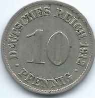 Germany - Wilhelm II - 1912 D - 10 Pfennig - KM12 - [ 2] 1871-1918: Deutsches Kaiserreich
