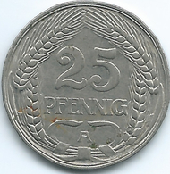 Germany - Wilhelm II - 1910 A - 25 Pfennig - KM18 - [ 2] 1871-1918 : Duitse Rijk