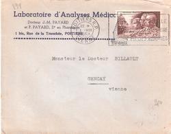 Yvert N°898 ( 15f.PICQUE-ROUSSIN-VILLEMIN) Seul Sur Lettre - Poststempel (Briefe)