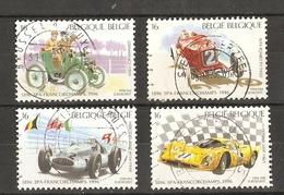 Belgique 1996 - 100 ANS Courses Automobiles à SPA - Série Complète Oblitérée - Oblitérés