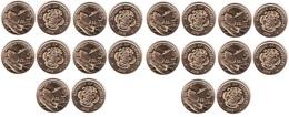 Seychelles - 10 Pcs X 5 Cents 2016 UNC Lemberg-Zp - Seychelles