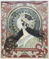 "ALPHONSE MARIA MUCHA (1860-1939) Gouache Painting ""Zodiac 1896"" (Czech Jugendstil Kunst Art Nouveau Artist Peinture - Gouaches"