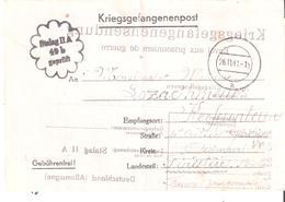 Carte D'un Prisonnier De Guerre Au STALAG IIA Adressé à QUIMPER Instruction Pour Envoi De Colis - Guerre De 1939-45