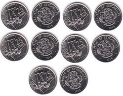 Seychelles - 5 Pcs X 25 Cents 2016 UNC Lemberg-Zp - Seychelles