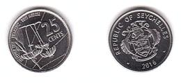 Seychelles - 25 Cents 2016 UNC Lemberg-Zp - Seychellen