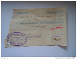 1942 Ontvangstbewijs Reçu Winterslag Mutualiteitsvereeniging Ste-Barbe Fiscale Zegels Timbres Fiscal 259, 271, 272 - Bank & Insurance