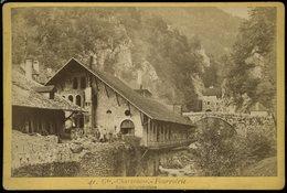 Grande Photographie XIXe Grande Chartreuse Fourvoirie Usine Métallurgique Librairie Papeterie Eugène Rober  11 Par 16 CM - Photos