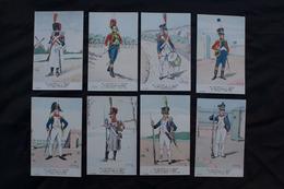 Ref5876 Lot De 8 CPA Militaria Bucquoys - Uniformes Du 1er Empire - Le 26e De Ligne En 1809 - H. Feist - 14e Série - Uniformen