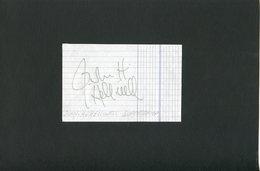 Autographe ORIGINAL Signed Musicien JOHN.H.HELLIWELL Groupe SUPERTRAMP Feuillet Découpé D'un Carnet D'autographes - Autografi