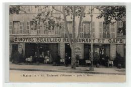 13 MARSEILLE GRAND HOTEL BEAULIEU BOULEVARD D ATHENES PRES DE LA GARE CABASSUF PROP. CARTE PUBLICITAIRE - Altri