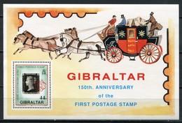 Gibraltar Mi# Block 15 Postfrisch/MNH - Stamp On Stamp - Gibraltar