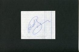 Autographe ORIGINAL Signed Musicien RICK DAVIES Groupe SUPERTRAMP Feuillet Découpé D'un Carnet D'autographes - Autografi