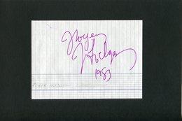 Autographe ORIGINAL Signed Musicien ROGER HODGSON Groupe SUPERTRAMP Feuillet Découpé D'un Carnet D'autographes - Autografi