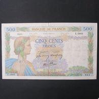 500 Francs La Paix 20.6.1942 , TB - 500 F 1940-1944 ''La Paix''