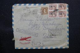 URUGUAY - Enveloppe De Montevideo En Recommandé Pour La Suisse En 1947, Affranchissement Plaisant - L 58419 - Uruguay