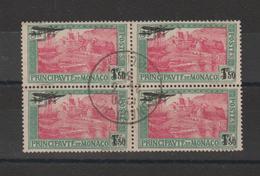 Monaco 1933 PA 1 En Bloc De 4 Oblit. - Poste Aérienne