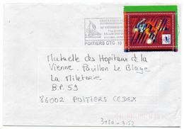 France N° 3130 Issu Du Bloc Y. Et T. Vienne Poitiers CTC Flamme Illustrée Du 10/04/1998 - Marcophilie (Lettres)