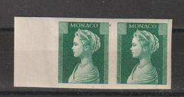 Monaco 1957 Princesse Grace 478-486 Essai De Couleur Paire Bord De Feuille ** MNH - Neufs