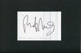 Autographe ORIGINAL Signed Du Musicien RITCHIE BLACKMORE Groupe DEEP PURPLE Feuillet Découpé D'un Carnet D'autographes - Autografi