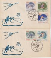Russie 1960 FDC JO D'hiver 2258-62 - Invierno 1960: Squaw Valley
