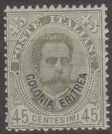 Italia Colonie Eritrea 1893 SaN°8 MLH/* Centrato B Vedere Scansione - Eritrea