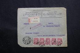 RUSSIE - Devant D'enveloppe Commerciale De Odessa En Recommandé Pour La France En 1916 , Affr. Plaisant - L 58434 - Covers & Documents