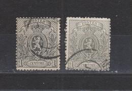 COB 23 Et 23a Oblitérés - 1866-1867 Coat Of Arms