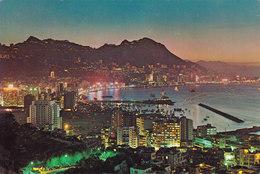 Chine Evening Scene Of Hong Kong (2 Scans) - China (Hong Kong)