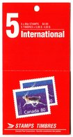 RC 16989 CANADA BK129 PEARY CARIBOU ISSUE CARNET COMPLET FERMÉ CLOSED BOOKLET NEUF ** TB MNH VF - Full Booklets
