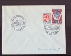 """Enveloppe Avec Cachet Commémoratif """" Les 24 Heures """" Du 14 Juin 1969 Au Mans - Postmark Collection (Covers)"""