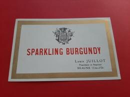 ETIQUETTE ANCIENNE / SPARKLING BURGUNDY / LOUIS JUILLOT A BEAUNE - Bourgogne