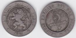 LOT 028  BELGIQUE  LEOPOLD  Ier   5 CENTIMES  1861 - 1831-1865: Leopold I