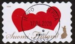 2020 Finland, Two Hearts, Fine Used. - Finland
