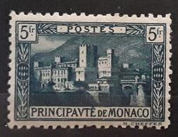 MONACO 1922, Palais Princier,  Yvert No 63 A, 5 F Vert Foncé,  Neuf * MH TB,  Cote 15 Euros - Neufs