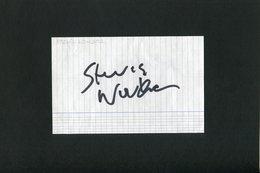 Autographe ORIGINAL Signed Du Chanteur Américain STEVIE WONDER Feuillet Découpé D'un Carnet D'autographes - Autografi