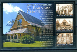 Norfolk Island 2010 130Y St. Barnabas Chapel Bl. S/S MNH - Isla Norfolk