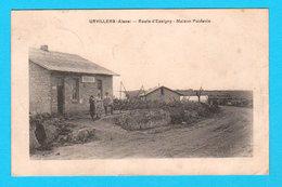 RARE CPA Aisne URVILLERS Route D'Essigny - Maison Poidevin - Animée Et Circulée En 1922 - 2 Scans - Autres Communes