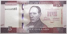 Liberia - 5 Dollars - 2016 - PICK 31a - NEUF - Liberia