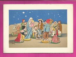 CP Double - BARRE-DAYEZ N° 13268 C - Crèche - Scene De Vie  Provençale, Marie Et Le Petit Jesus Très Entourés - Autres Illustrateurs