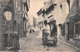 """¤¤  -   LANNION   -  La Rue De Treguier  -  Boucherie  """" E. AUDIGOU """"    -  ¤¤ - Lannion"""