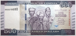 Liberia - 500 Dollars - 2016 - PICK 36a - NEUF - Liberia