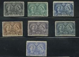Canada 1897 Jubilee Issue Small Range Unused - Neufs