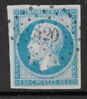 Maury 14I - 20 C Bleu Type I - O Losange PC 420 Blois (40) Indice 1 - 1853-1860 Napoleon III